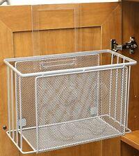 Over The Cabinet Basket Organizer Bath Kitchen Storage Behind The Door  Holder