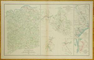 AUTHENTIC-CIVIL-WAR-MAP-SPOTSYLVANIA-HANOVER-JUNC-VA-GOLDSBOROUGH-N-C-1862-65