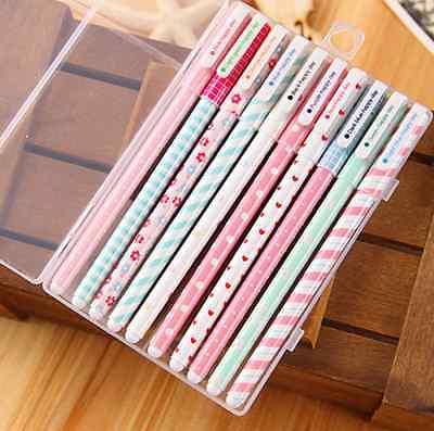 LOTS 10PCS/SET Colorful 0.38mm Gel Pen Cute Pens Student Office Accessories
