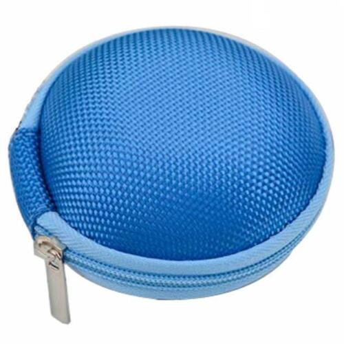 Portable Mini Round Storage Pouch Case Bag for Earphone Earbuds SD TF Headphone