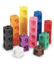 Learning Resources Mathlink Cubes Educational Counting Toy Set of 100 Cubes