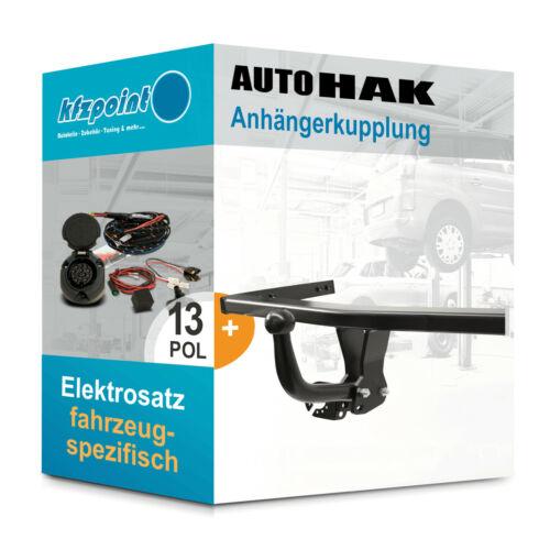 AUTO HAK Anhängerkupplung starr Für VW Polo Fliessheck 05 13polig E-Satz AHK