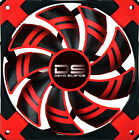 AeroCool Dead Silence 14cm LED Fan With Dual Material - Red