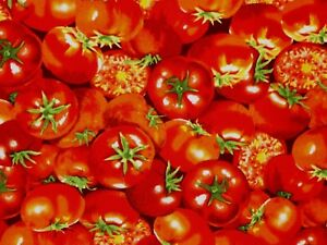 Fat Quarter Food Festival Tomatoes Cotton Quilting Sewing Fabric