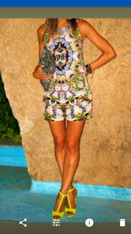 Zara multi coloured print playsuit size s