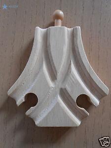 Branchement incurvé MALE en bois pour circuit de train  - jeux et jouets NEUF**