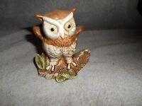 Vintage -  Ceramic 4 1/2''  OWL FIGURINE ~ Price Products Taiwan ~