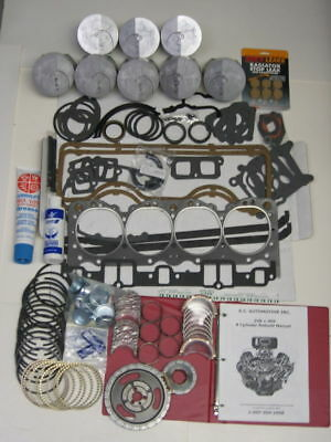 58 59 60 61 CHEVY IMPALA 348 ENGINE HLCAM LIFTERS RERING REBUILD KIT NO PISTONS