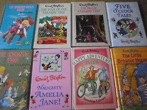 young-childrens-Enid-Blyton-bundle-HB-wishing-chair-faraway-tree-brownie-x-8