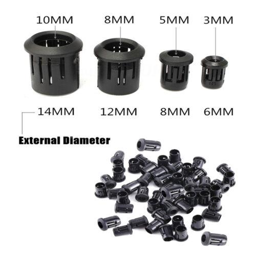 Black Plastic Lamp LED Diode Holder Black Clip Bezel Socket Mount 3mm 5mm 10mm