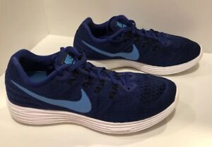 67da5ee9ecb0e Nike Lunarlon Men s Fly Knit Blue Sneaker Running Shoes Size 9.5 ...