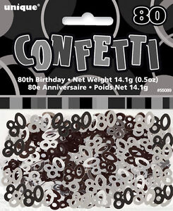 80th-BIRTHDAY-PARTY-SUPPLIES-CONFETTI-FOR-TABLE-DECORATIONS-14g-SLVR-amp-BLK