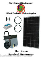 Hurricane Solar Generator Portable Emergency Power 100w Solar Panel Off Grid