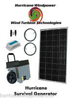 Hurricane Survival Generator Portable Emergency Power 85w Solar Panel Off Grid