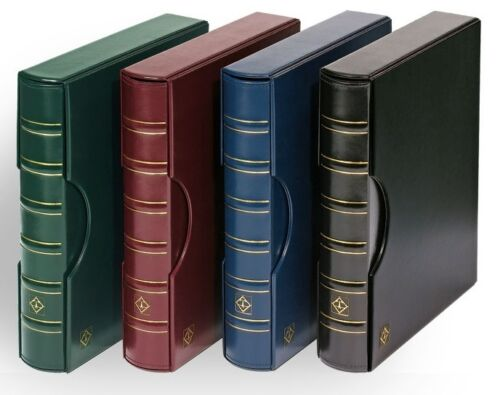 LIGHTHOUSE Coin Currency Stamp Album GRANDE Classic Leather 3 Ring Binder RED