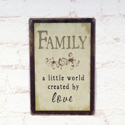 Antique Family Definition Metal Tin Signs Retro Bar Home Pub Wall Decor