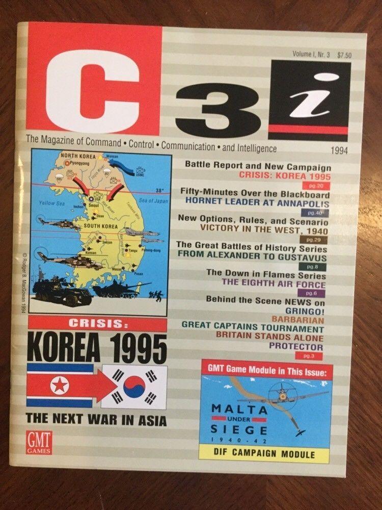 Nueva cubierta de Corea crisis, C3i GMT; con inserciones de todos por; bonificación  extra Dif Set