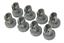 miniatura 2 - REX ELECTROLUX ZANUSSI KIT 16 RUOTE LAVASTOVIGLIE CESTELLO INFERIORE + SUPERIORE
