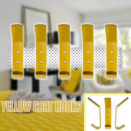 New Yellow Coat Hooks Door Wall Hooks Baby Nursery or Kids Bedroom