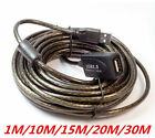 1M/10M/15M/20M/30M USB 2.0 Male to Female Extension Extender Cable Cord Lead Lot