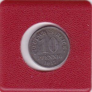 10-Pfennig-1917-F-Eisen-Variante-I-anstatt-F-Deutsches-Reich