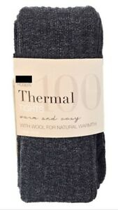 Ex-M-amp-S-Womens-Ladies-100-Denier-Wool-Blend-Thermal-Ribbed-Thick-Soft-Tights