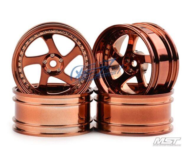 MST Copper TMB TMB RC 1/10 Drift Car Wheels offset 8 (4 PCS) 102045C New