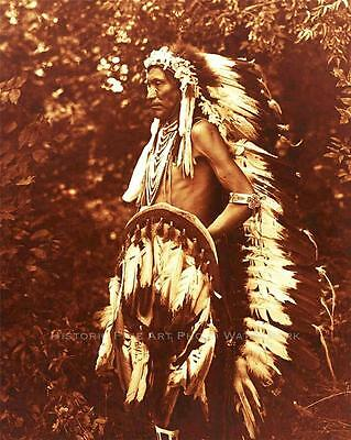 CROW INDIAN SCOUT GOES AHEAD VINTAGE PHOTO NATIVE AMERICAN OLD WEST  #21090