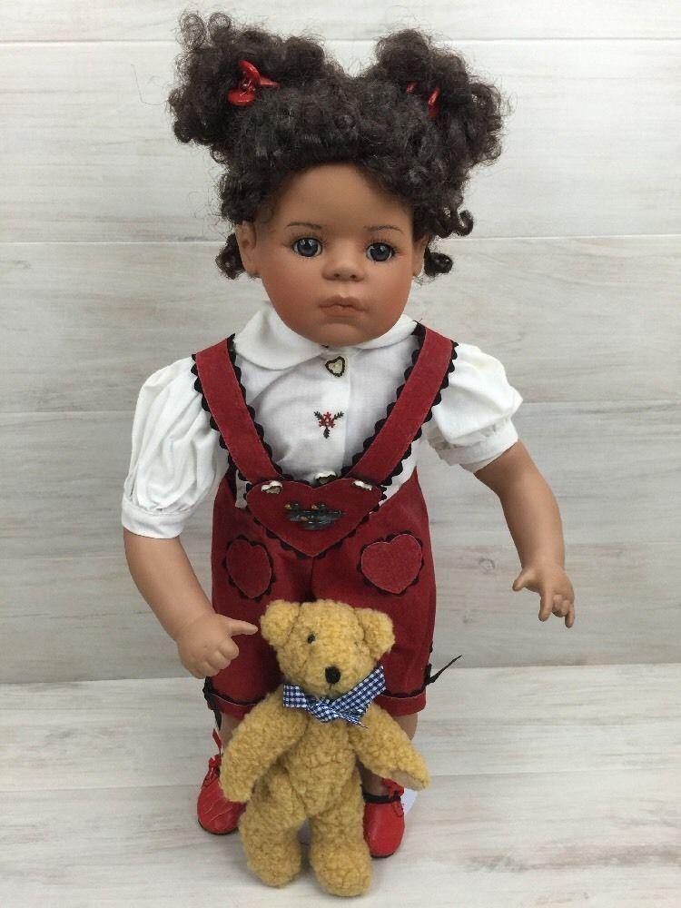 Porcelain Girl Doll Sandy African American 18  Master Piece Gallery COA Ltd. Ed.
