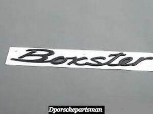 porsche boxster emblem boxster black for trunk lid new. Black Bedroom Furniture Sets. Home Design Ideas