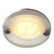 Robus 13W Recessed Downlight Brushed Chrome Drop Glass Ceiling Spot Light G24q-1