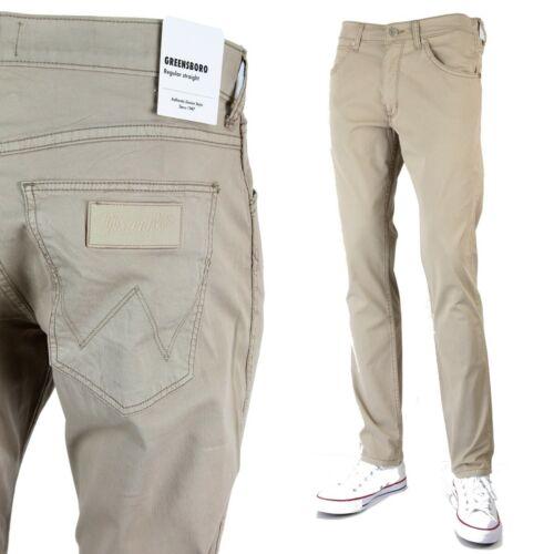 Neu Wrangler Greensboro Modern Regular Jeans Camel Gewaschen Größen