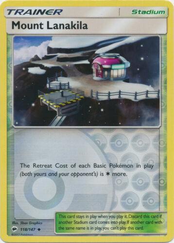 Mount Lanakila 118//147 Burning Shadows Reverse Holo Near Mint Pokemon DNA GAMES