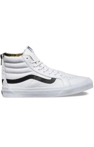 Negros 4 Entallado Cuadros Hi Franela Hombre Blancas Vans Zapatos Sk8 Cremallera vwn68