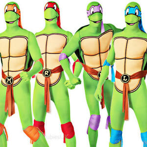 Image is loading Teenage-Mutant-Ninja-Turtle-Mens-Fancy-Dress-Superhero-  sc 1 st  eBay & Teenage Mutant Ninja Turtle Mens Fancy Dress Superhero TMNT Adult ...