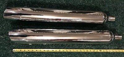 """Harley-Davidson Dyna Slash Cut Slice Cut Exhaust System 2.5/"""" Straight Pipes HD"""