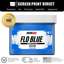 Fluorescent Blue Screen Printing Plastisol Ink Low Temp Cure Pint 16oz