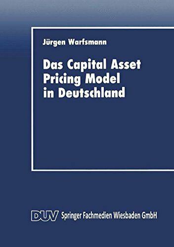 Das Capital Asset Pricing Model in Deutschland:, Warfsmann-,
