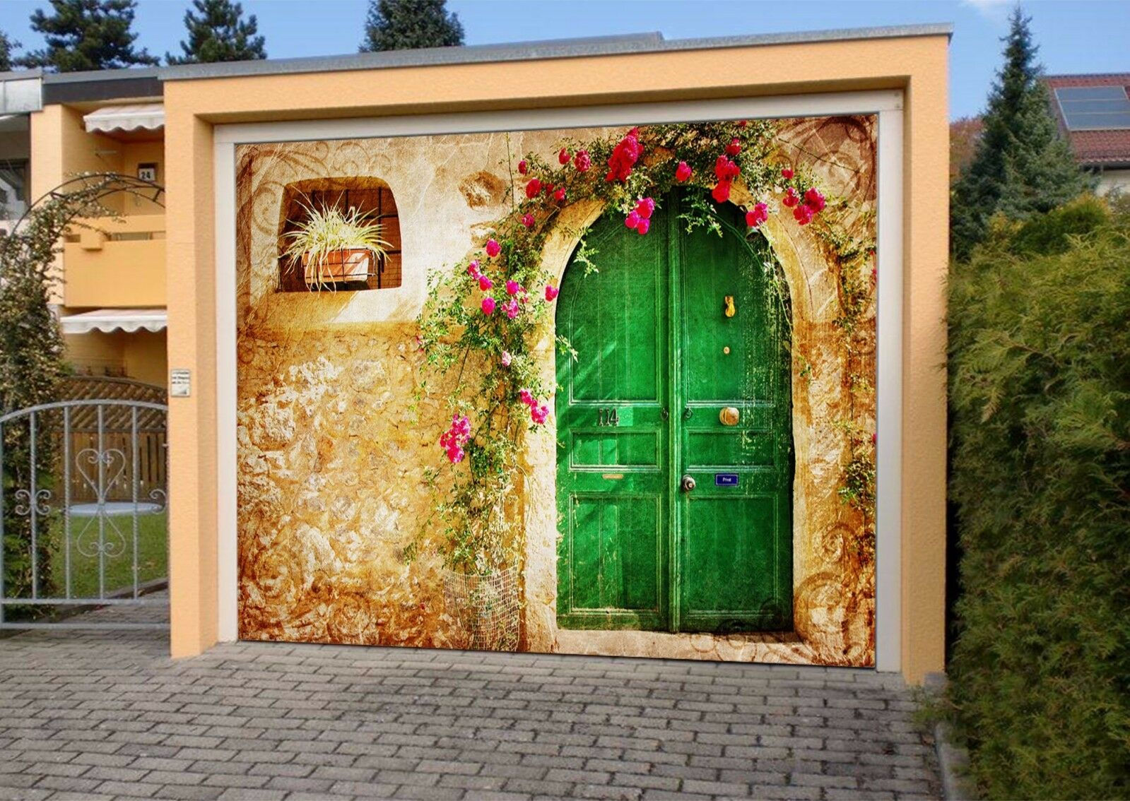 3D Grün Door 457 Garage Door Murals Wall Print Decal Wall AJ WALLPAPER AU Lemon