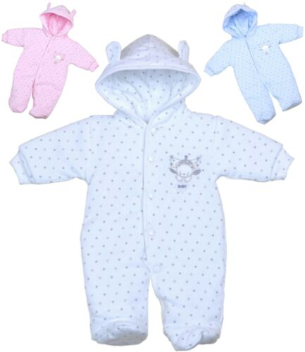 Babyprem Baby Girls Boys Clothes PREMATURE Prem Tiny Chaud pramsuit Snowsuit Coat
