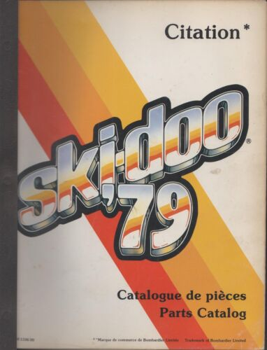 1979 SKIDOO CITATION SNOWMOBILE PN 480110600 PARTS MANUAL 527
