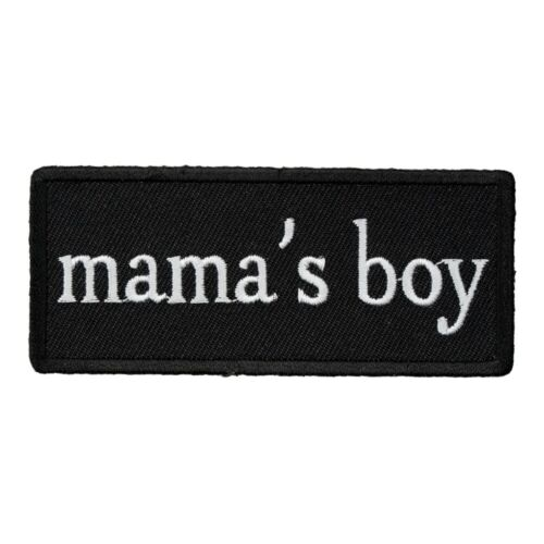 Mama/'s Boy Black /& White Patch Sayings Patches