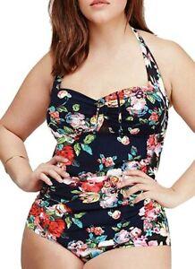 Dai Ioni Women's Swimwear Black Size 3XL Plus One Piece Tummy Control $89 #655