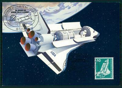 Brd Mk 1981 Weltraum Space Shuttle Maximumkarte Carte Maximum Card Mc Cm Ei85 Knitterfestigkeit