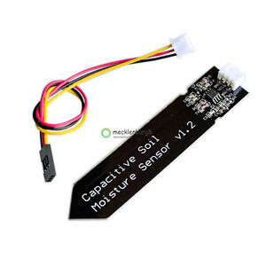 5X-NEW-Analog-Capacitive-Soil-Moisture-Sensor-Corrosion-Resistant-With-Cable