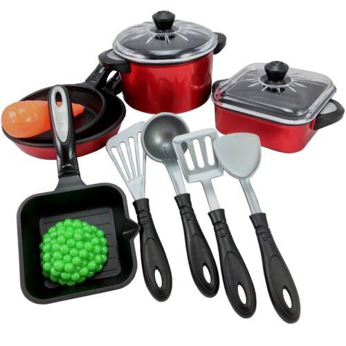 Kochset für Kinder Spielküche Topf Pfanne Puppenküche Geschirr Topfset 13 tlg