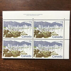 Canada-Stamps-599-Plate-Block-PB-Upper-Right-UR-Vancouver-MNH-Pl-2