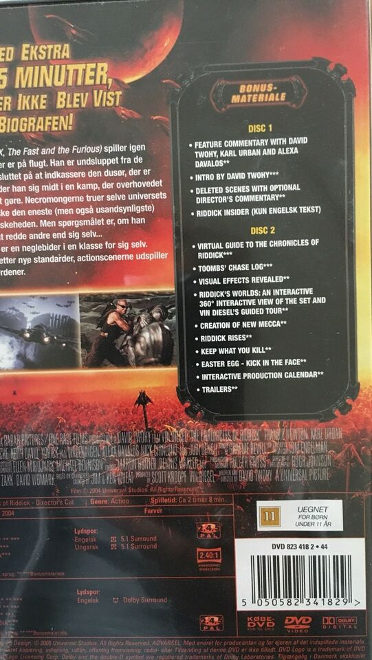 The chronicles of Riddick, DVD, eventyr