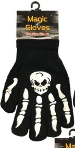 Children/'s Magic Crâne /& Crossbones Spooky Halloween chaude Gripper Gants