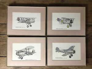 Collection-Of-Vintage-Retro-Framed-Aeroplane-Prints-X-4
